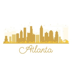 Atlanta City skyline golden silhouette vector