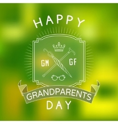 Background for Grandparents Day vector
