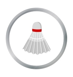 Badminton icon cartoon Single sport icon from the vector