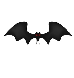 Bat on white background red frightening eyes vector image