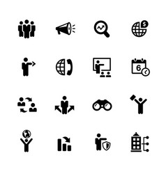 business opportunities icons vector image