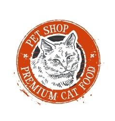cat logo design template kitten or pet vector image vector image