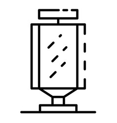 City lightbox icon outline style vector