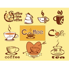 Coffee logotype menu icons vector image