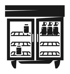 Commercial freezer icon simple style vector