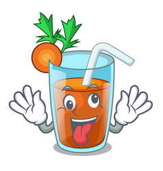 Crazy sweet carrot juice isolated on mascot vector