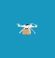 drone package delivery vector image