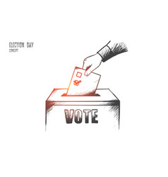election day concept hand drawn isolated vector image