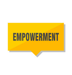Empowerment price tag vector