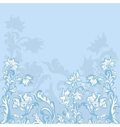 Floral background blue vector