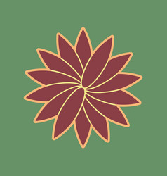 flower sign cordovan icon and mellow vector image