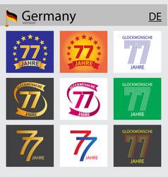 German set number 77 templates vector