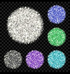 glitter background set vector image