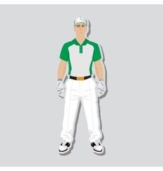 Golf player wear vector image