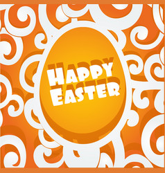 happy easter egg openwork cutout banner vector image
