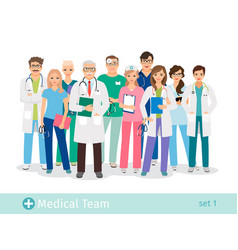 hospital team isolated on white background vector image