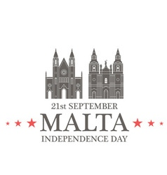 Independence Day Malta vector