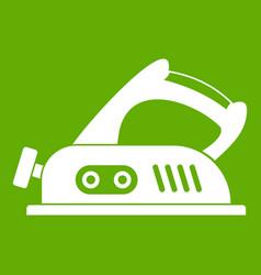 Jack plane icon green vector