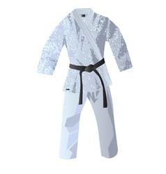 Kimono for judo vector