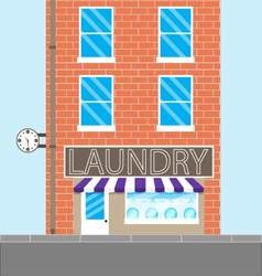 Laundry brick building vector image