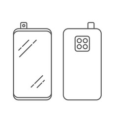 linear image smartphone with retractable camera vector image