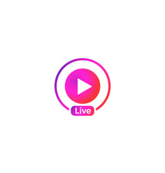 Live video icon vector