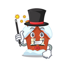 Magician winter house with in character shape vector