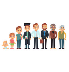 man age male different life ages people vector image