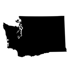 map silhouette us state washington vector image