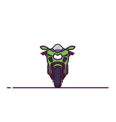 modern sport bike line style vector image