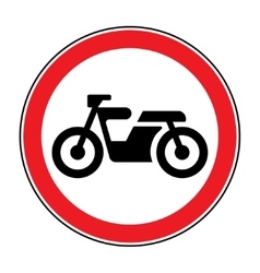 motorcycle red sign vector image