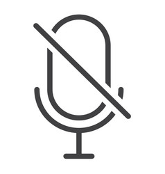 no microphone line icon web and mobile vector image