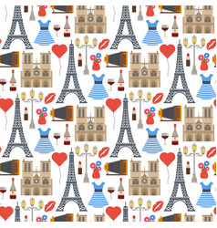 paris famous travel cuisine traditional vector image