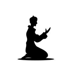 Prayer islamic template design graphic vector