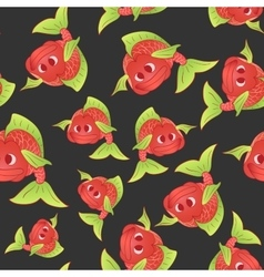 Red fish on a dark background vector
