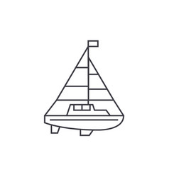 sailing yacht thin line icon concept sailing vector image