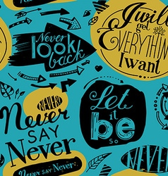 Seamless pattern of the letterings vector image