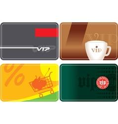 set vip plastic cards vector image