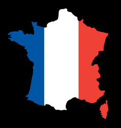 silhouette country borders map of france on vector image
