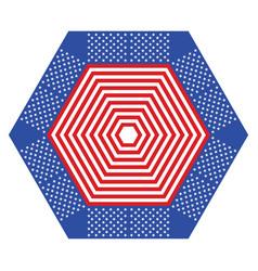 Stripes and stars geometric ornament vector