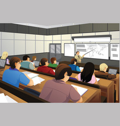 students in the classroom vector image