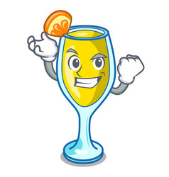Successful mimosa character cartoon style vector