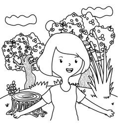 teenager girl cartoon design vector image