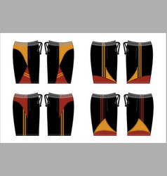 Template shorts sport vector