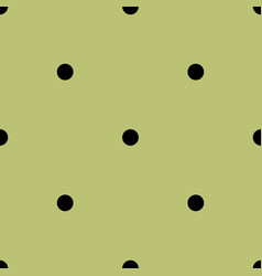 Tile spring pattern with black polka dots on green vector