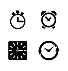 time clock simple related icons vector image