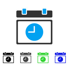Time schedule flat icon vector