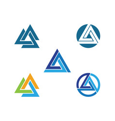 Triangle logo template icon vector