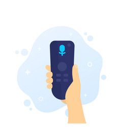 Tv remote control with voice recognition vector