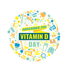 Vitamin d day vector